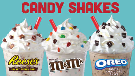 Candy-Infused Milkshakes - Wienerschnitzel's New Candy Shakes are Made with Popular Sweets