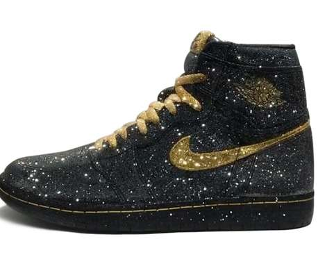 Crystal-Covered Basketball Sneakers