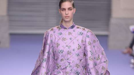 Oversized Duvet Ponchos - Mulberry Introduced a Series of Highly Comfortable Styles on the Runway
