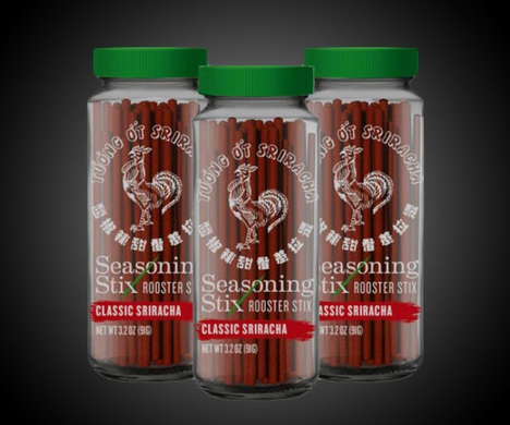 Flavorful Cooking Spice Sticks - The Sriracha Seasoning Stix Enhance Foods from the Inside-Out