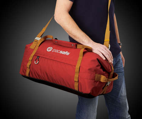 Slash-Proof Duffle Bags - The 'Pacsafe' Anti-Theft Duffle Luggage Bag Ensures Safety When Travelling