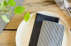 The Small Gunns Indigo Denim Dinner Napkins are Made in the USA