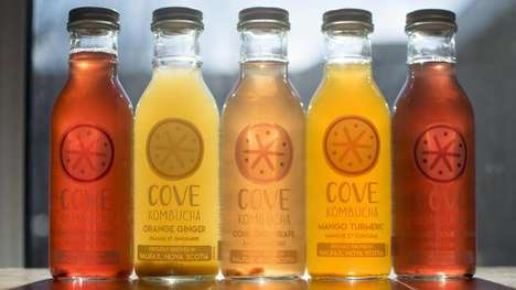 Locally Sourced Kombucha Teas - The Brand Cove Kombucha Was Created Out of a Fermentation Experiment
