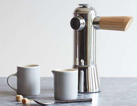 Analog Artisan Espresso Makers - The 'Freud' Stovetop Espresso Maker Brews the Old-Fashioned Way