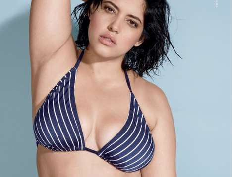 Naturally Imperfect Swimsuit Ads - This Lane Bryant Ad Shows Plus-Size Model Denise Bidot Unedited