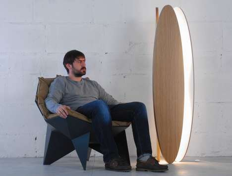 Ambient Living Space Lamps - The 'Ova' Living Room Floor Lamp Provides Passive Illumination