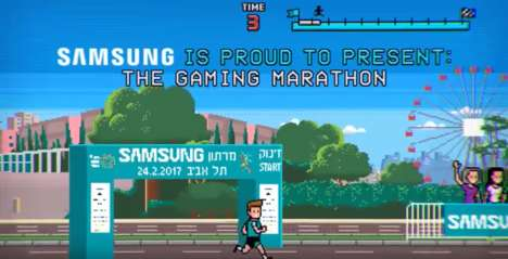Gamified Marathon Events - 'The Gaming Marathon' by Samsung is a Real-Life Race Game