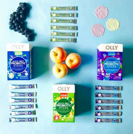 Flavored Probiotic Crystals - Olly's Probiotic Sticks Offer Health Bacteria for Digestive Health