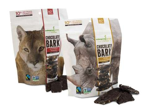 Wildlife-Protecting Chocolates - The Endangered Species Chocolate Dark Chocolate Barks are Tasty