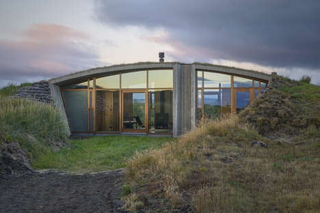 Buried Icelandic Landhouses - Gardur Landhouse is Blends into the Region's Rolling Dunes