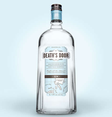 Bartender-Friendly Bottles - The New Gin Bottles from Death's Door are Ergonomic and Eco-Friendly