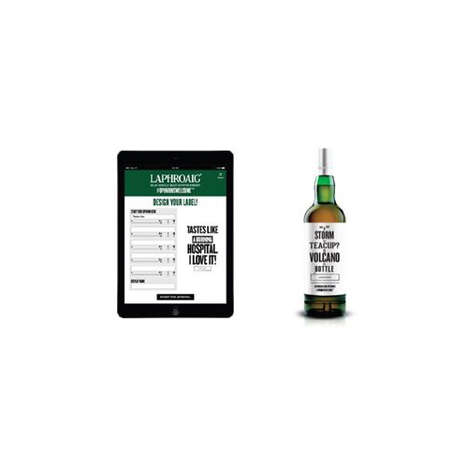 "Customized Beer-Labeling Apps - Laphroaig's App Lets Drinkers Create ""Opinionated"" Whisky Labels"