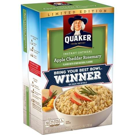 Savory Instant Oatmeals - Quaker's Newest Flavor Introduces Apple-Cheddar Savory Oats