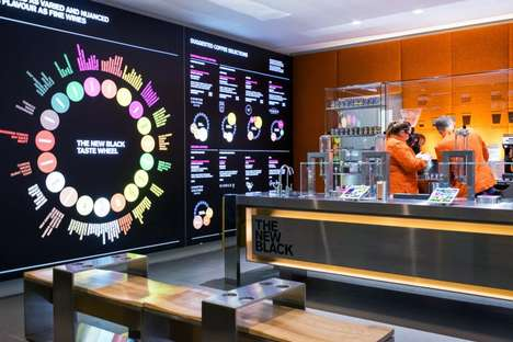 High-Tech Concept Cafes - 'The New Black' in London is a High-Tech Cafe Oriented at Businesspeople