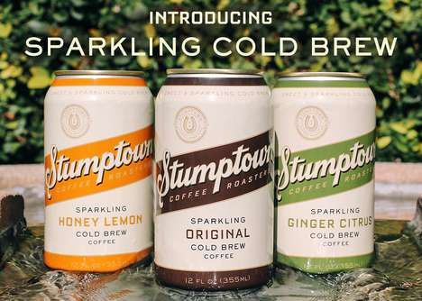Carbonated Cold Brews - Stumptown's Cold Brew Coffee in a Can is Boasts a Sparkling Fizz