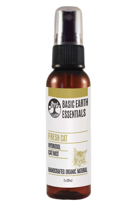 Cat-Friendly Fragrance Mists - Basic Earth Essentials' 'Fresh Cat' Distillate Water Removes Odors