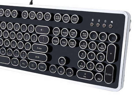 Mechanical Typewriter PC Keyboards - The Adesso AKB-636 Keyboard is Inspired by Typewriter Keyboards