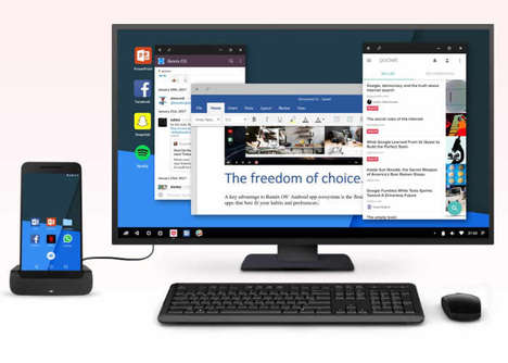 Smartphone-Based PCs - The Remix 'Singularity' App Enables a Smartphone to Act as a PC Replacement
