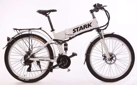 Folding All-Terrain Electric Bikes - The 'Stark Drive' Folding Electric Bicycles are Affordable