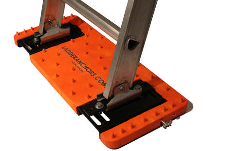 Tough Ladder Stabilizers - The LadderAnchor Keeps People Safe When Climbing Ladders Alone