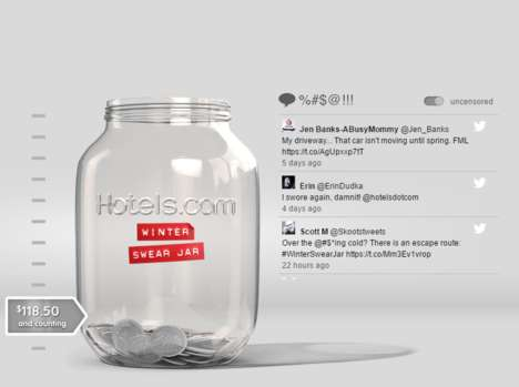 Swear Jar Travel Campaigns - Hotels.com Canada is Offering Consumers the Chance to Leave the Cold