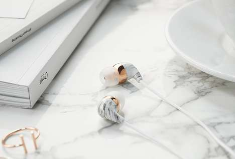 Multicolor Marble Headphones - The Casetify Marble Earbuds with Microphone are Noise-Cancelling