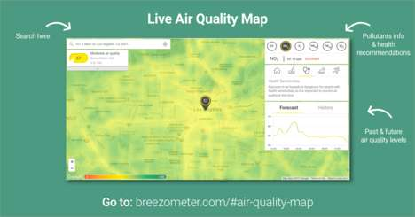 Interactive Air Quality Maps - BreezoMeter's New Map Tool Provides Local Pollution Data