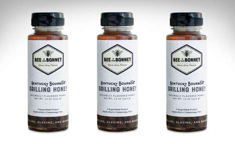 Bourbon-Infused BBQ Honeys - The RogersMade Kentucky Bourbon Grilling Honey is Oaky and Sweet