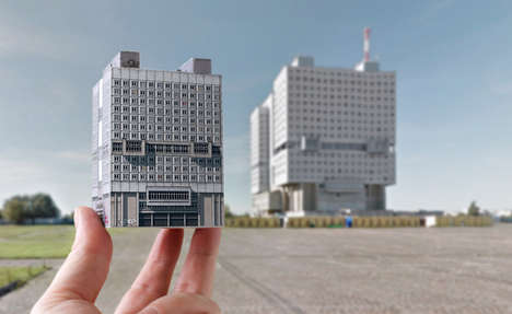 Origami Eastern Bloc Buildings - 'Brutal East' is a DIY Set of Paper Buildings from the Soviet Era
