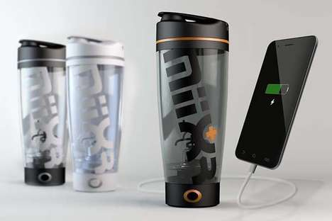 Power Bank Beverage Mixers - The 'MiiXR' Bottle Shaker Blends Beverages and Charges Devices