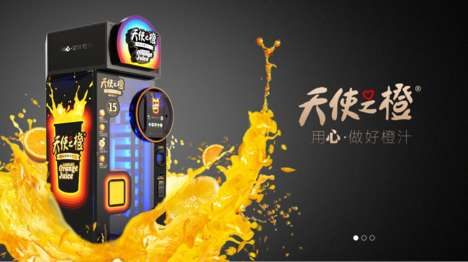 Fresh Juice Vending Machines - Vingoo's Vitamin C Chargers Offer Fresh Orange Juice on Demand