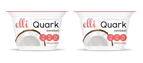 Stevia-Sweetened Yogurts - The Elli Quark Coconut Sugar-Free Yogurt is 95% Lactose-Free