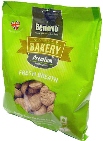Refreshing Dog Biscuits - Benevo's Vegan Dog Breath Biscuits Feature Essential Oil Extracts