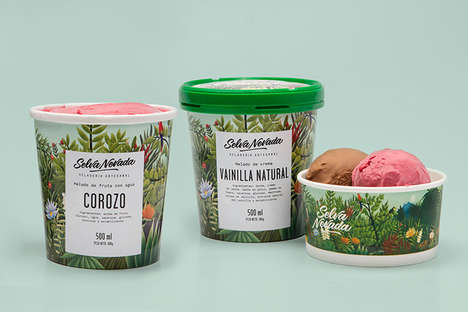 Biodiversity Ice Cream Branding - The Selva Nevada Ice Cream Company is Columbian Wildlife-Focused