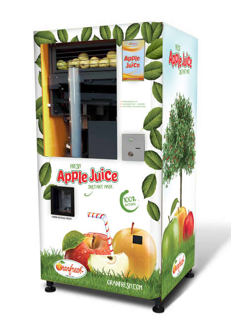 Juice-Only Vending Machines - The Oranfresh Vending Machines Dispense Freshly Squeezed Juice