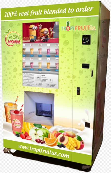 Smoothie-Making Vending Machines - The TropiFruit Smoothie Machine Dispenses Freshly Made Smoothies