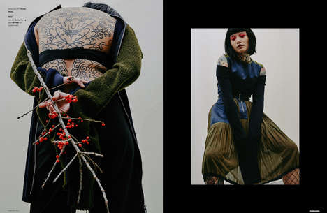 Conceptual Tattoo Photography - The Ones 2 Watch 'Cold at Heart' Editorial is Artistically Inked