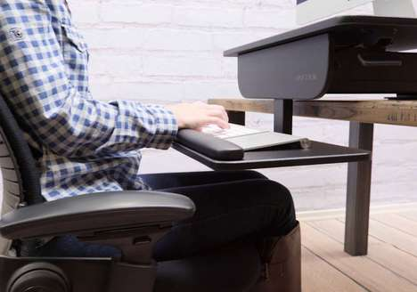 Ergonomic Desk Converters - The 'UPLIFT' Standing Desk Converter Affixes onto Any Table or Desk