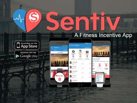 Charity Crowdfunding Fitness Apps - The 'Sentiv' App Pays Users or Charities for Working Out