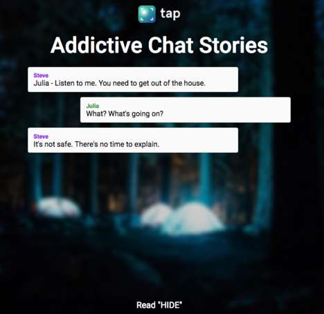 "Chat-Based Storytelling Apps - 'Tap' Tells ""Addictive Chat Stories"" Through Messenger Dialogue"
