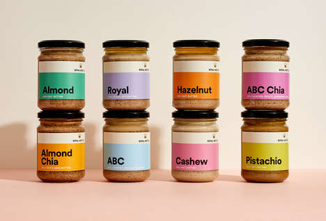 Monochromatic Nut Butter Branding - These Premium Nut Butters Were Made with Nutritious Ingredients
