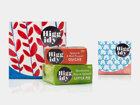 Handmade Artisanal Pie Packaging - The Higgidy Quiche and Pie Boxes Reinforce the Handmade Ideal