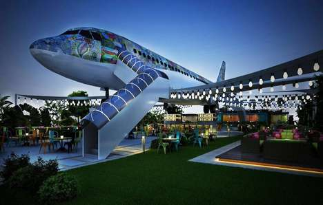 Converted Airplane Eateries - The 'Hawai Adda' Airplane Restaurant Serves Vegetarian Cuisines