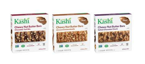 Dessert-Inspired Granola Bars - The Kashi Chewy Nut Butter Bars are Made with Organic Ingredients