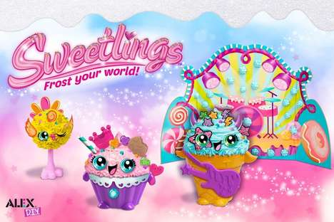 Dessert-Inspired Decorating Toys - 'Sweetlings' Inspires Kids to Make Imaginative Whipped Clay Toys
