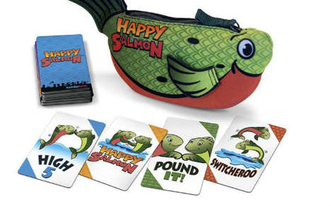 Gesture-Based Card Games - 'Happy Salmon' is a Quirky, Fast-Paced Game of Fist Bumps and High-Fives