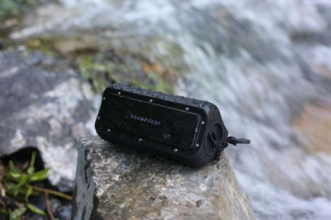 Rugged Solar-Powered Speakers - The MacroBoom Speaker is Designed for Outdoor Use
