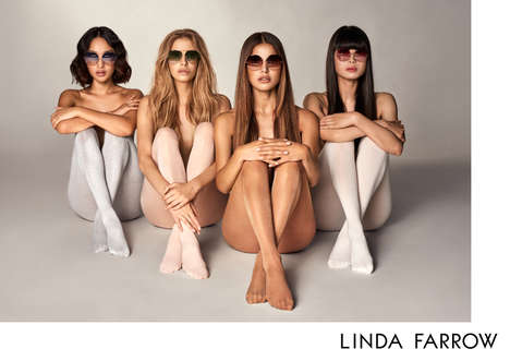 Influencer-Designed Eyewear Campaigns - The New Linda Farrow Campaign Features Digital Influencers