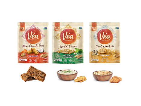 Globally Influenced Savory Snacks - 'Vea' is a Collection of Savory Bites in Crisps and Bars