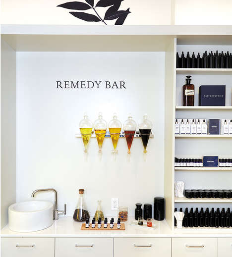 In-Store Apothecary Bars - Naturopathica's NYC Store Boasts a Healing Bar with Natural Remedies